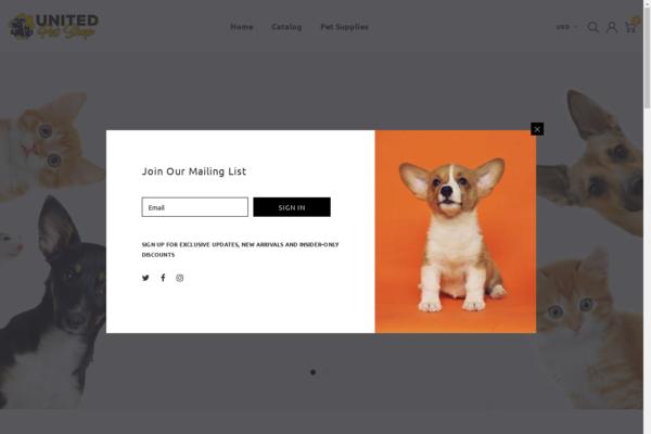 UnitedPetShop.com - AUTOMATED Dropship Pets Supplies shop w/10,000 items with 30-150% markups