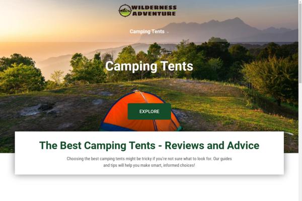 thewildernessadventure.com - Camping tents | Content Site | Affiliate Marketing, Ads & More!