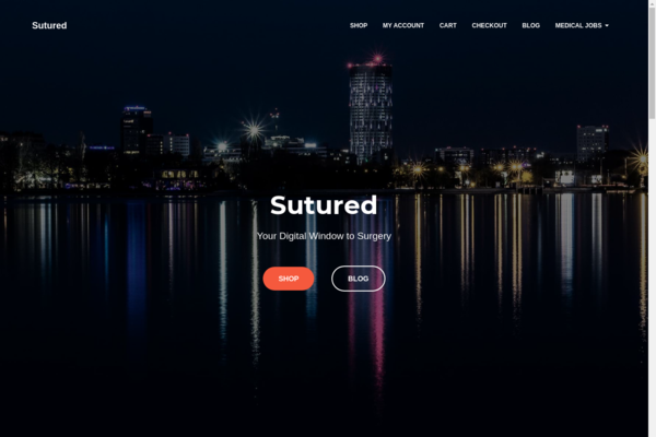 Sutured.com - Premium health blog network making about $100/mo with uniques/mo. 5 website pack