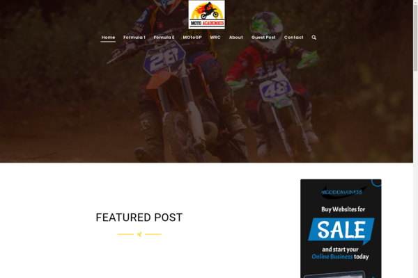 motoacademies.com - Premium MotoSports blog for sale with Unique Content