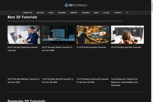 3D Tutorials  - 3D tutorials is a website with 10+ years of history and 15,700 Posts