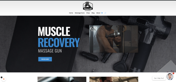 powersteed.com - Advanced READY-TO-GO e-commerce massage gun website in Health and Beauty niche