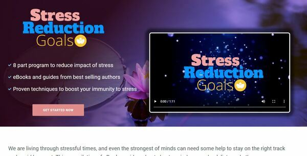 StressReductionGoals.com - Stress eBook and Resources Bundle Store, Digital Product, Wordpress/WooCommerce