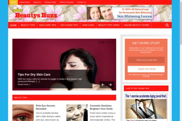 BeautysBuzz.com - Beauty Tips Blog-Lucrative Niche-Pro Design-$1.5KBINBonus-NEWBIE Friendly