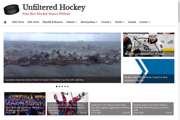 UnfilteredHockey.com - Premium Design Hockey News, 100% Automated + Hosting BIN Bonus