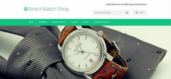 DirectWatchShop.com - High-Profit Luxury Watch Store with Striking Design and Valuable Domain