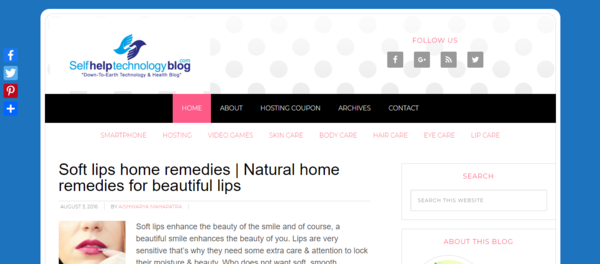 selfhelptechnologyblog.com - Advertising / Health and Beauty