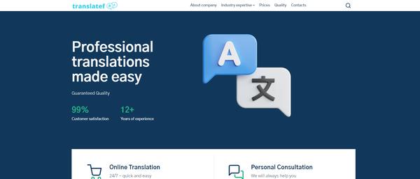 translatef.com - Hot Automated Translation Company. Newbie Friendly and Outsourced Business.