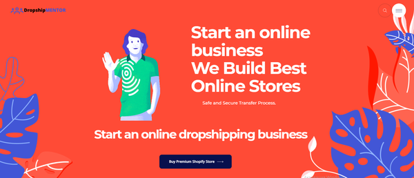dropshipmentor.com - Premium Ecommerce & Dropship Agency Sell Websites - Potential Earn up to 5k$/mo