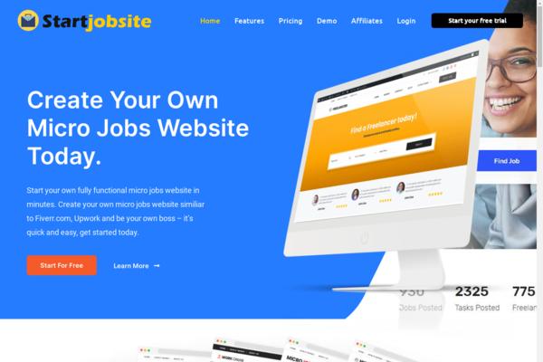StartJobsite.com - StartMicroJob.com - Turnkey SaaS Business Unique Business Microjobs Site