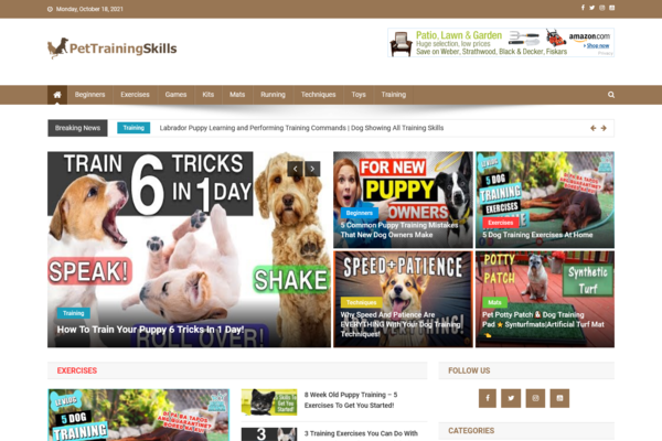 PetTrainingSkills.com - 100% Automated Pet Training Site - Huge Profitable Website - Earn With Ads - No Experience Required - Great BIN Bonuses