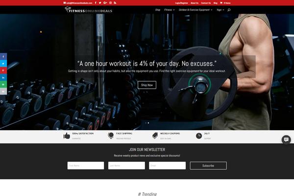 FitnessOnlineDeals.com - PowerFitnessStore.com | Dropship Store | Amazing Domain | FREE Hosting