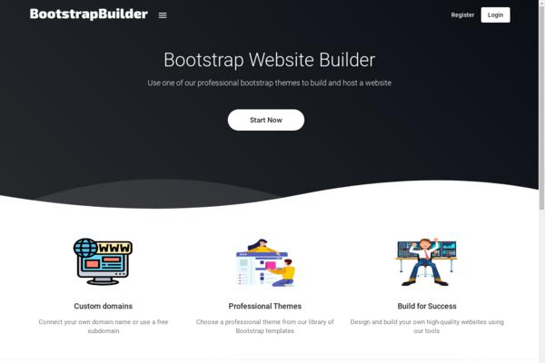 bootstrapbuilder.xyz - SaaS Website Builder - based on Bootstrap templates