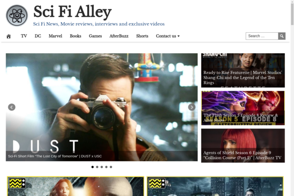 SciFiAlley.com - Fully Automated Sci-Fi News Website - 1 Year Free Hosting BIN + Great Bonuses