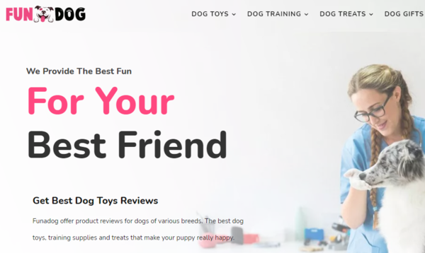 funadog.com - Advertising / Home and Garden / Pets / Dog Toys and Treats
