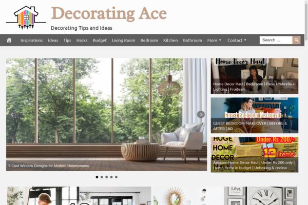 DecoratingAce.com - Fully Automated Home Decor Website - 1 Year Free Hosting BIN + Great Bonuses
