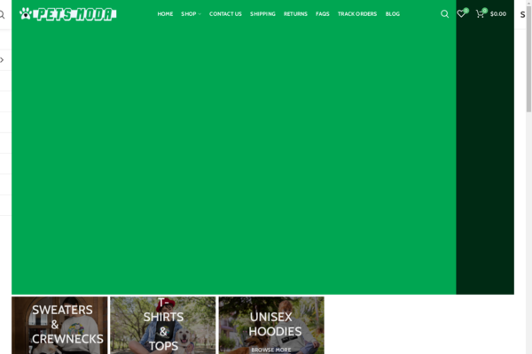 petsmoda.com - Stunning Ecommerce print on demand site in the Pets Niche