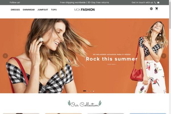 mokfashion.com -  PREMIUM AUTOMATED Women Fashion  Brand Store $12k /  50 days Revenue