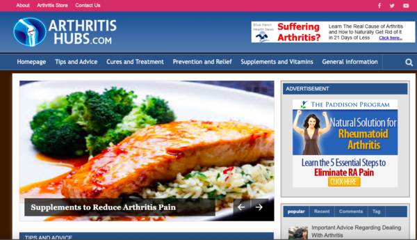 arthritishubs.com - Tap Into The MultiBillion Health niche With Your Own Ready-to-Go Arthritis Information website