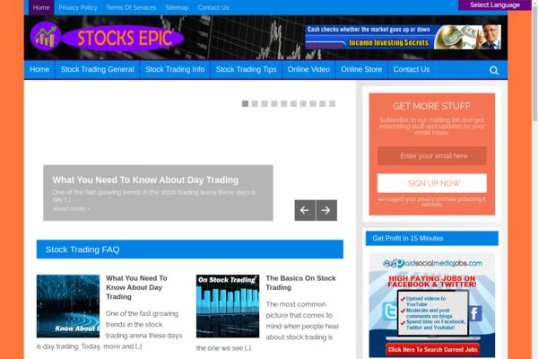 StocksEpic.com - Stock Trading Site-Lucrative Niche-Pro Design-$1.5KBINBonus-NEWBIE Friendly
