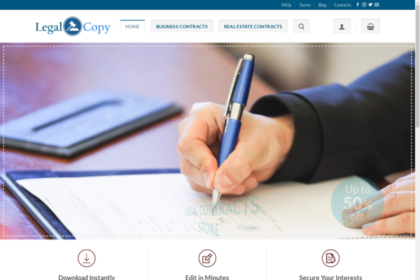 Legal-Copy.online - 100% Automated Digital Downloads eCommerce ~ Legal Contract Templates