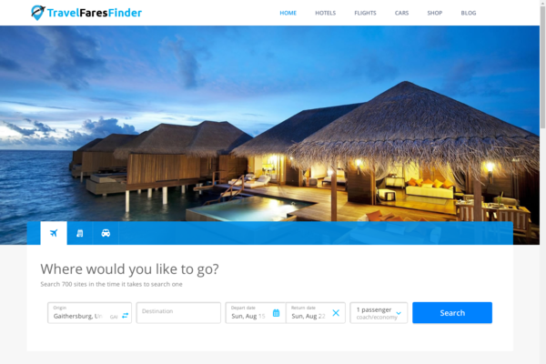 TravelFaresFinder.com - Automated Travel Site For Passive Income, Earn Up To $10k/mo - Adsense Ready