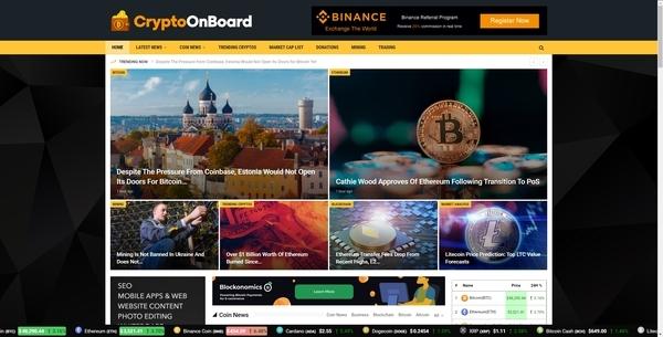 CryptoOnboard.com - Autopilot Crypto Bitcoin News Magazine Blog To Make Money Online
