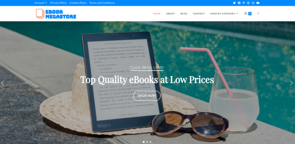 ebookmegastore.site - EbookMegastore.site Woocommerce eBook Store Passive Income 400+ Digital Products