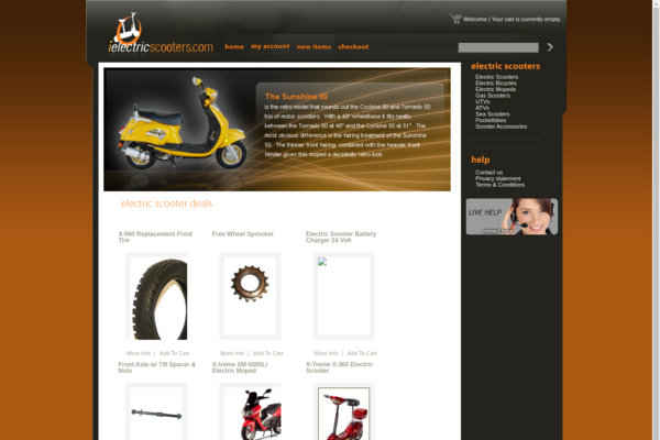 iElectricScooters.com - Established & Aged Drop Ship Scooter Website. Easy to Operate!