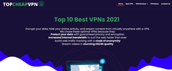 topcheapvpn.com - Premium Designed VPN Reviews Affiliate Website. Earning per click Up To 190$.