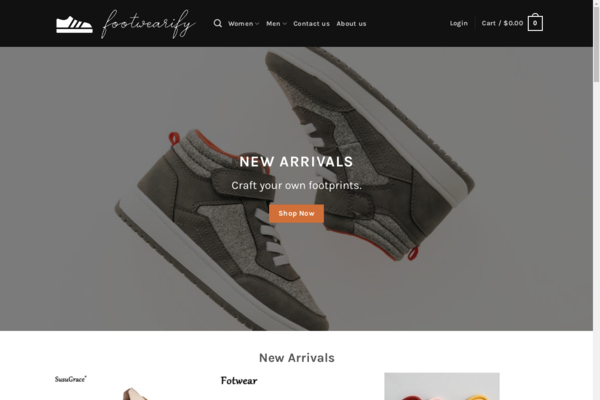 Footwearify.com - Footwearify.com automated Footwear dropshiping store worth+$1400-Noreserve