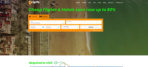 tripife.com - Premium WhiteLabel Automated Affiliate Travel Business. Earn up to 10 000 $ / mo