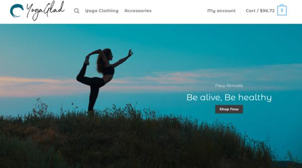 YogaGlad - YogaGlad.com - Automated Dropshipping Business - No Reserve - +$1000 Worth