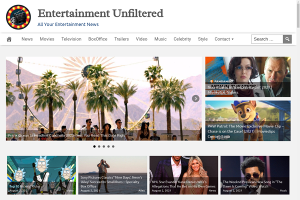 EntertainmentUnfiltered.com - Fully Automated Entertainment News - 1 Year Free Hosting BIN + Great Bonuses
