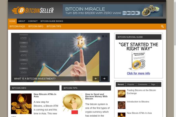 BitcoinSeller.net - Gorgeous Content Rich Bitcoin Website!