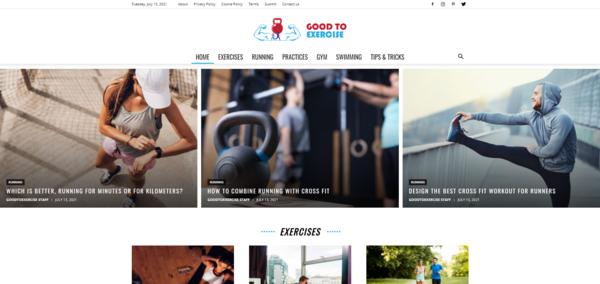 GoodToExercise.com - GoodToExercise.com: Fitness, Health, Training, Gym, Exercise, Sports, Nutrition