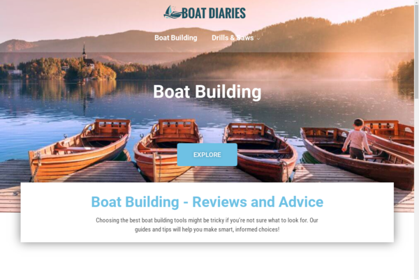 boatdiaries.com - Boat Building | Content Site | Affiliate Marketing, Ads & More!