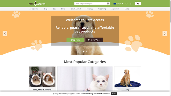 PetsAccess.com - PetsAccess.com / Best-Selling Pet Products / Premium Theme, Plugins + FB/IG AD