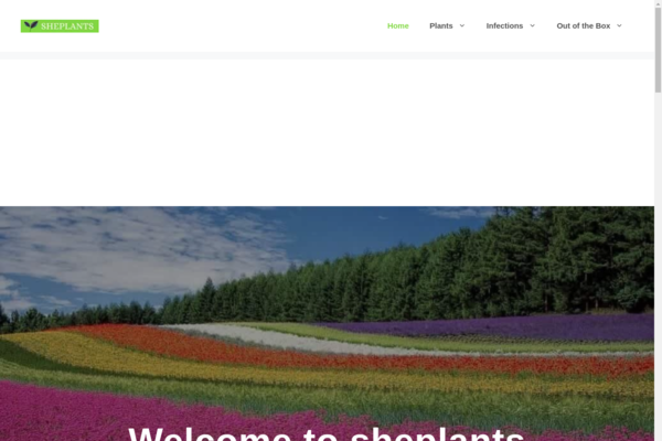 sheplants.com - Garden Niche website with 70+ unique articles, Monetized with Ezoic and Amazon