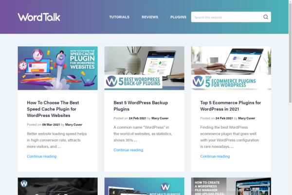 wordtalk.com - WordPress Tutorials and Reviews