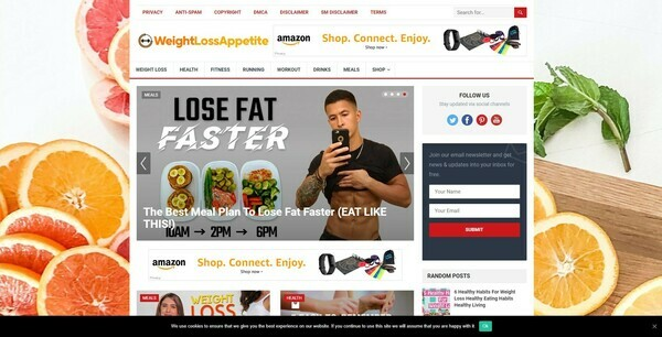 WeightlossAppetite.com - 100% Autopilot & Automated Weight Loss Niche Site To Make Money Online From Amazon Ads, Affiliate Links - 200 Amazon Products Imported