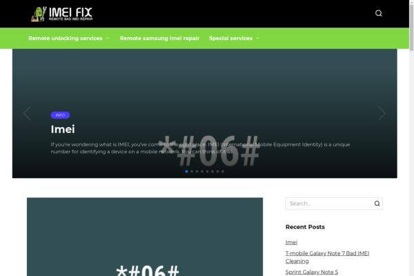 imeifix.com - IT, Gadgets, site in Adsense, made on WordPress in 2013. USA
