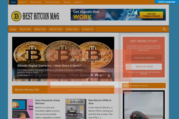 BestBitcoinMag.com - Bitcoin Blog-Huge & Lucrative Niche-Pro Design-$1.5KBINBonus-NEWBIE Friendly