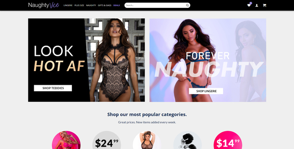 NaughtyVice.com - Adult Toy & Lingerie Store, 16,000+ Products, USA Supplier, Automated, Dropship