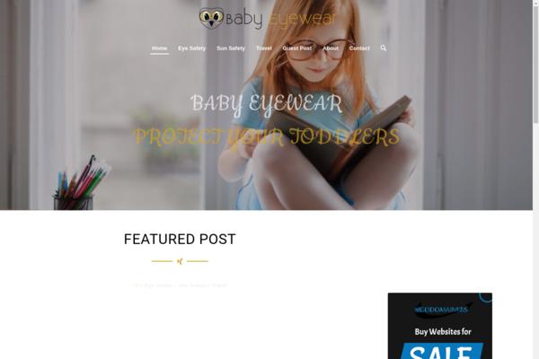 babyeyewear.com - Premium informational Baby Eyewear blog with unique content and premium domain