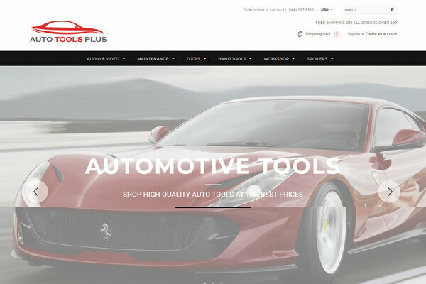 Auto Tools Plus - Shopify Dropshipping Automotive Tools/Parts store with 10K ready-to-sell products with 30-150% margins in profit, with valuable 18 y.o. domain. USA Suppliers!