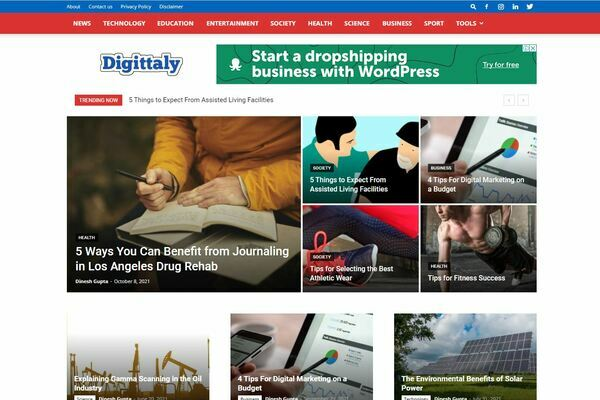 Digittaly.com - 3 y/o content site in all niches. Making $400/mo over the last 16 months. Many easy wins, Google news optimized, DA: 57, DR: 40, Started in 2018. No reserve!
