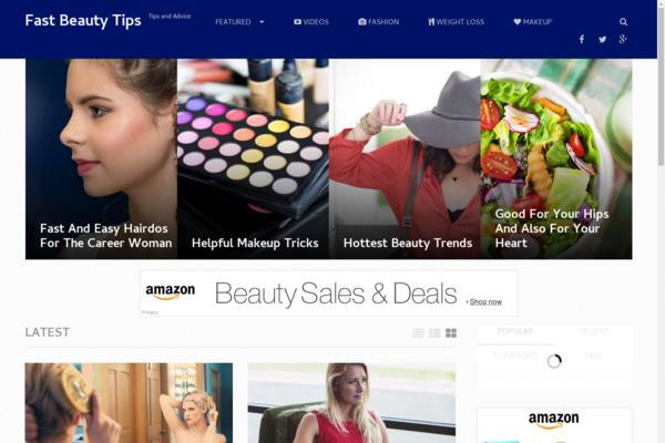 FastBeautyTips.com - Hot Niche! - Beauty Blog - Amazon Ads! - Responsive Site! - BIN Bonuses!