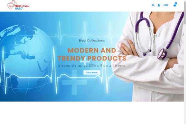 eMedicalMart.com - AUTOMATED Dropship Medical Equipment shop w/4,000 itms,renewed 20 y.o. domain