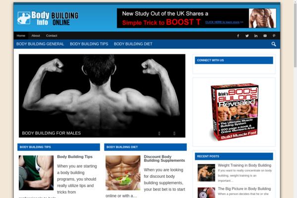 bodybuildinginfoonline.com - Premium Body Building Niche Information Website